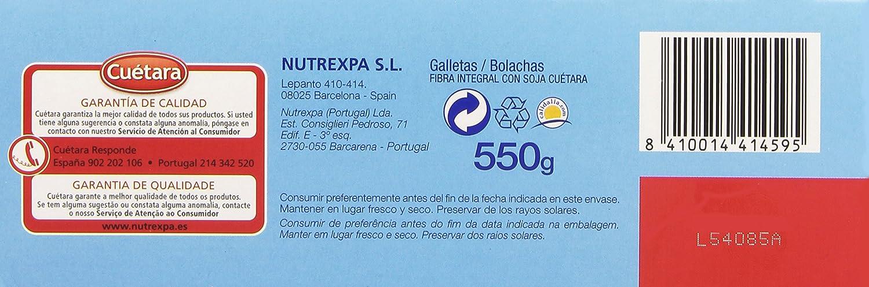 Cuètara - Fibra linea - Integral soja - 550 g: Amazon.es ...