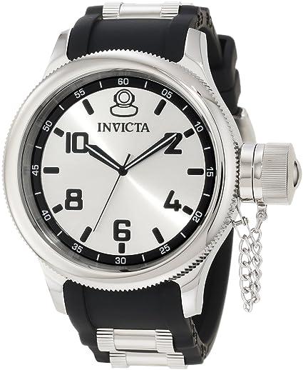 Invicta 1435 - Reloj de Pulsera Hombre, Caucho, Color Negro: Amazon.es: Relojes