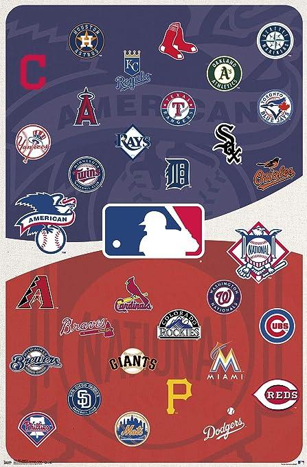 Amazon com: Trends International MLB - Logos Wall Poster