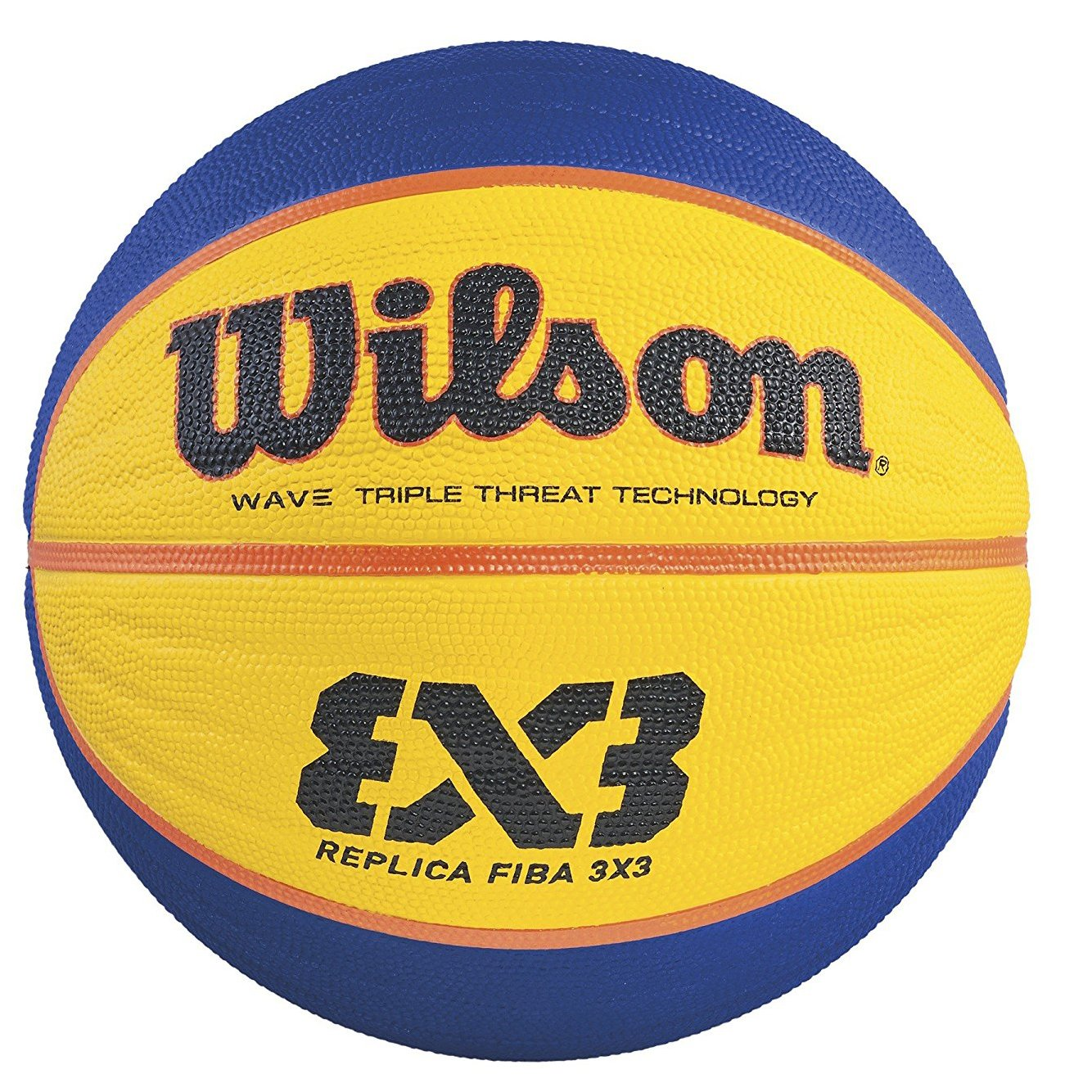Wilson Ballon Basketball Intérieur, Compétition 3vs3, Homologué FIBA, Parquets Sportifs, Sols Granulaires, en PVC ou en Linoléum, Taille 6, De 8 à 12 ans, FIBA 3X3 REPLICA GAME BALL, Orange, WTB1033XB WTB1033ID ballon de basket ballon anniversaire ballon d