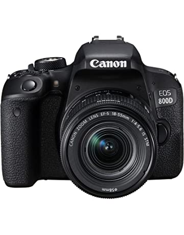 Canon EOS 800D Digital SLR Camera and EF-S 18-55mm f/4.5.6 IS STM lens - black