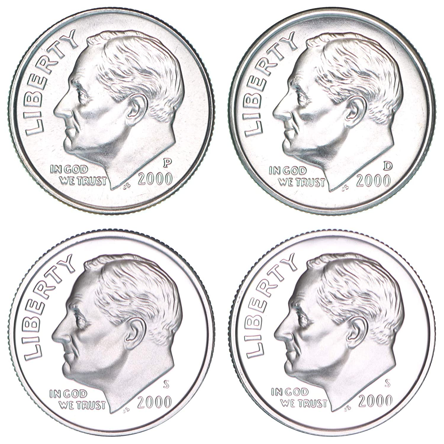 1999-P-D-S ROOSEVELT DIMES FROM MINT /& PROOF SETS #-1 SEE PICTURES
