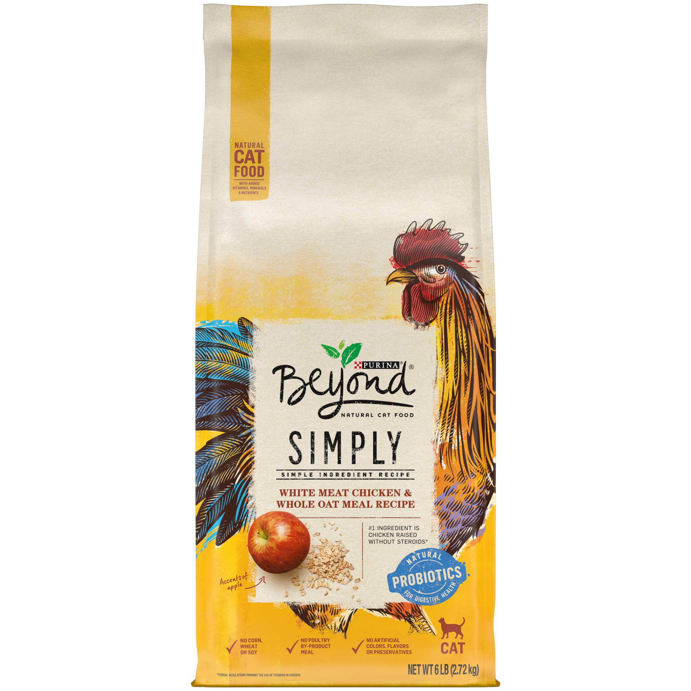 Purina Beyond Natural Limited Ingredient Dry Cat Food, Simply White Meat Chicken & Whole Oat Meal Recipe - 6 lb. Bag