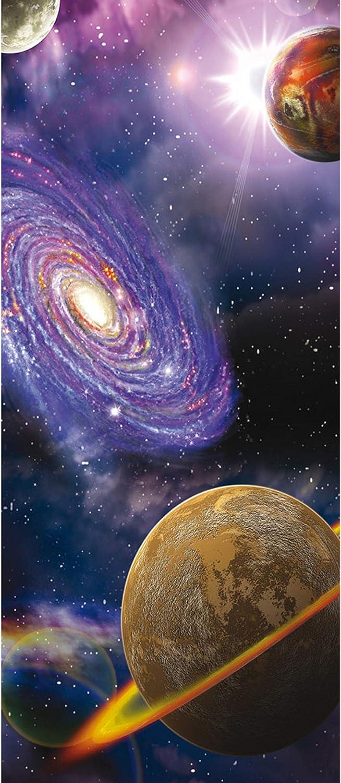 Weltraum Galaxie Planeten selbstkl. Material:91x211cm Folie T/ür Fototapete T/ürtapete 91x211 cm T/ürfolie selbstklebend o Vlies PREMIUM PLUS 905 T/ür T/ürposter T/ürpanel Foto Tapete Bild no