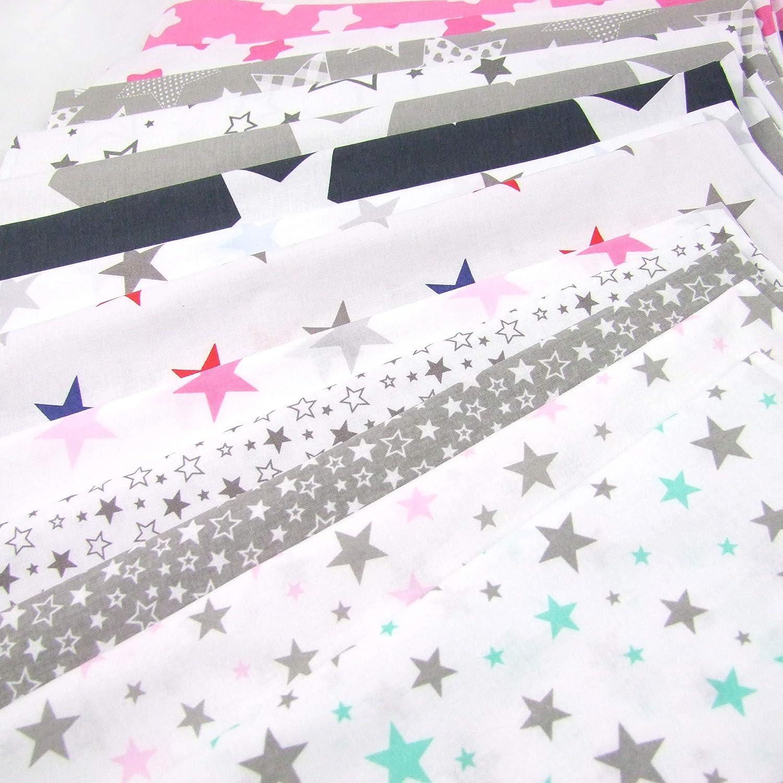 Rawstyle 4 tlg F/üllung STARS Set Bezug f/ür Kinderwagen Bettw/äsche Decke Design 11 Kissen
