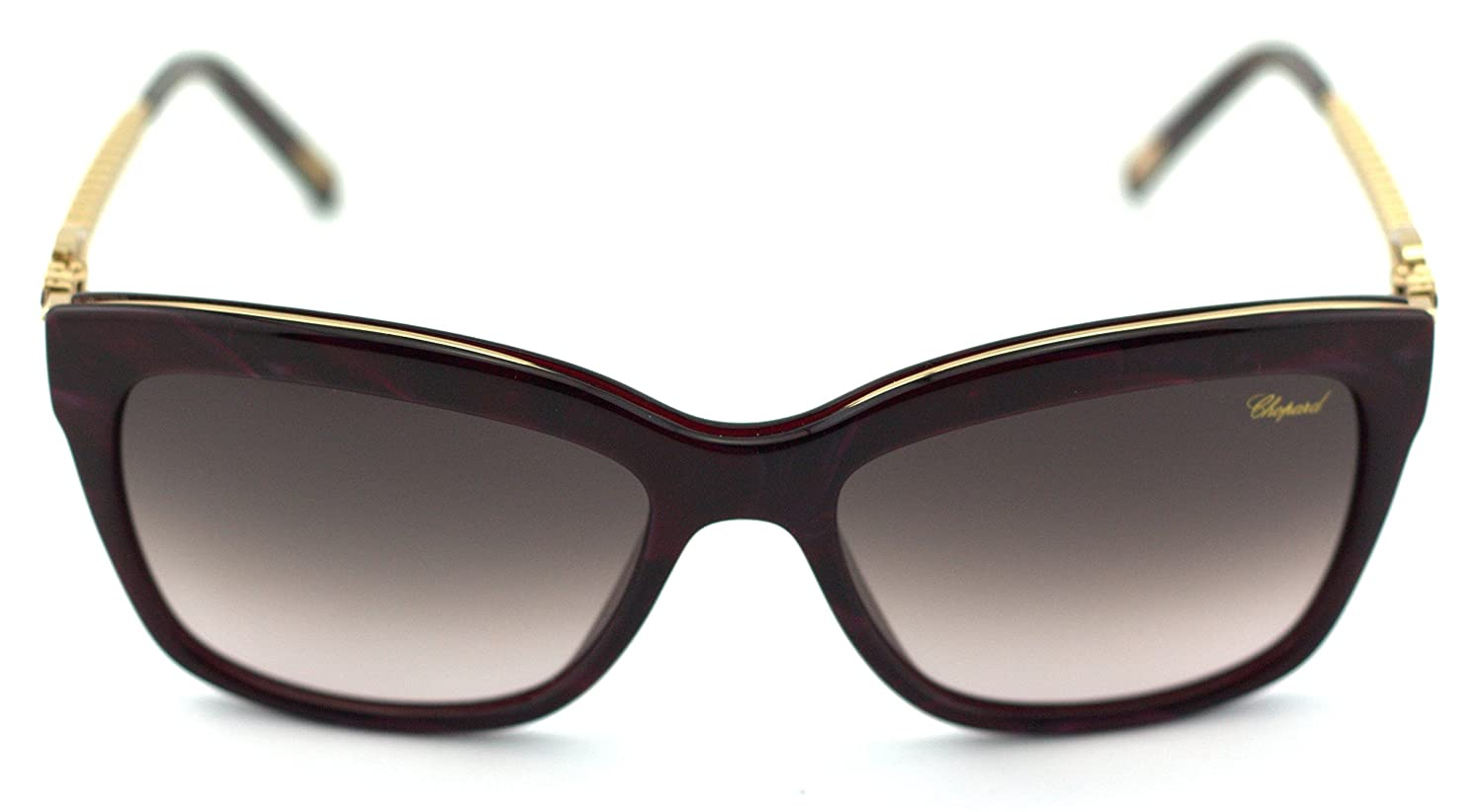 9ebbbf4c0e80 Amazon.com  Chopard SCH 212S Women Round Sunglasses (Bordeaux Mother Pearl  Polished Frame Brown Gradient Pink Lenses 09ZB)  Clothing