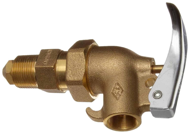Justrite 08910 3//4 Npt Adjustble Brass Drum Faucet 400-08910