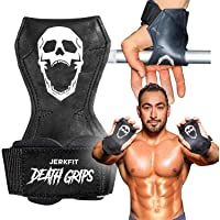 JerkFit Death Grips Ultra Premium Lifting Straps for Deadlifts, Pull Ups, Heavy Shrugs | Lifting Hand Grips with Padded…