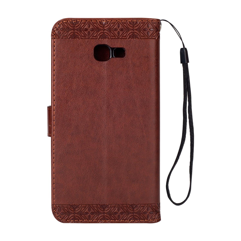 Miagon Galaxy A5 2017 H/ülle,Braun Mandala Blumen Handytasche Flip Case Cover Schutzh/ülle Ledertasche Lederh/ülle Bookstyle Klapph/ülle Kartenf/ächer f/ür Samsung Galaxy A5 2017