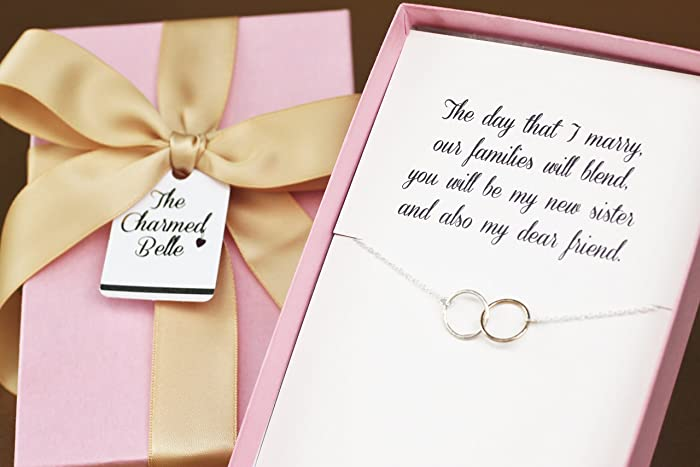 necklace sister in law wedding gift sister in law bridal shower gift bridesmaid