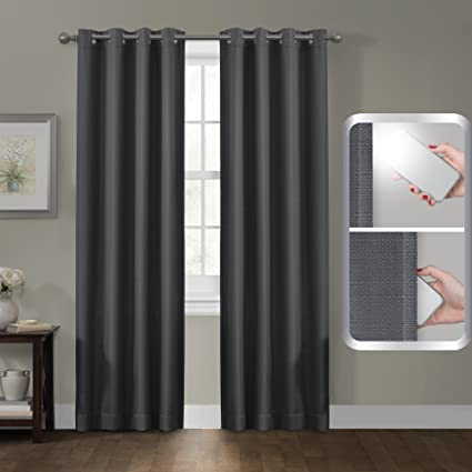 maytex certfied 100 percent blackout smart curtains ultimate light blocker sheridan grommet single panel window curtain - Smart Curtains