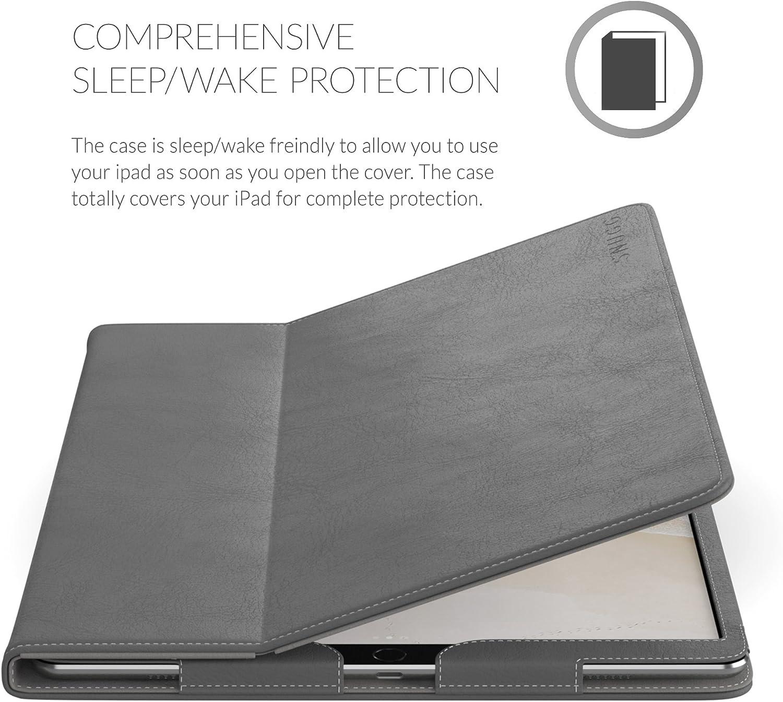 Porte-Rabat Protecteur pour Apple iPad Snugg iPad Air 3 Cuir Ultra-Mince 2019 // iPad Pro 10.5 Etui // iPad 10.2 Violet Am/éthyste Garantie /‡ Vie 2017 7th Gen