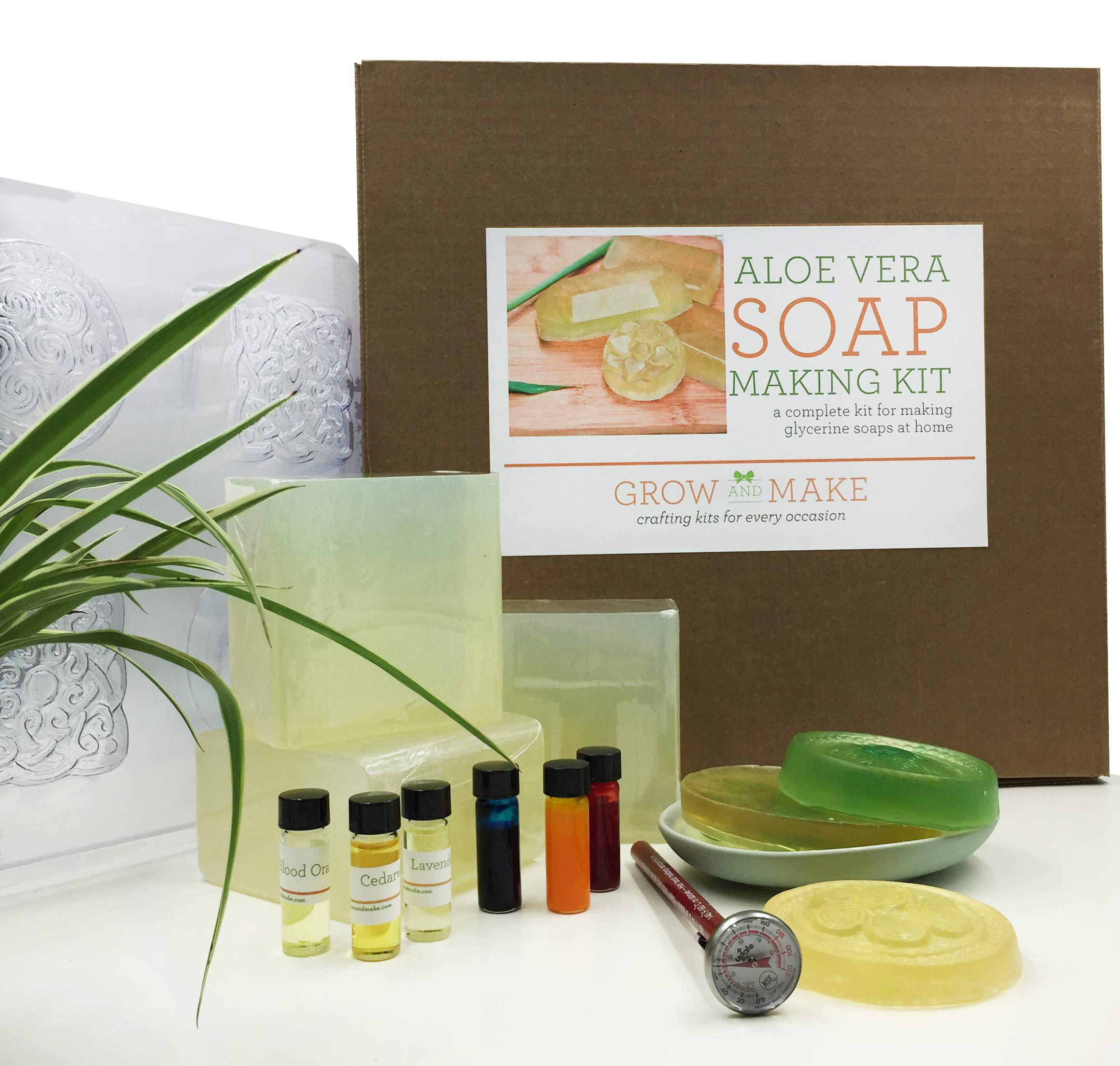 Grow and Make DIY Aloe Vera Soap Making Kit - Learn how to make home made natural soap!