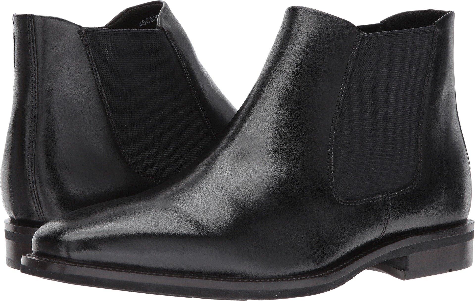 ECCO Men's Faro Plain Toe Chelsea Boot, Black, 45 EU/11.5-12 M US