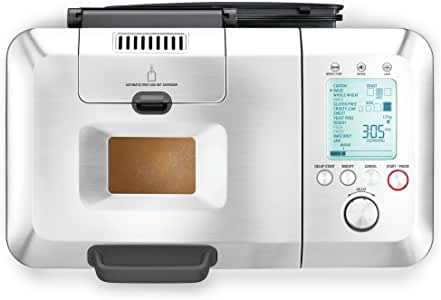 Breville The Custom Loaf Pro Bread Maker, Brushed Stainless Steel BBM800BSS