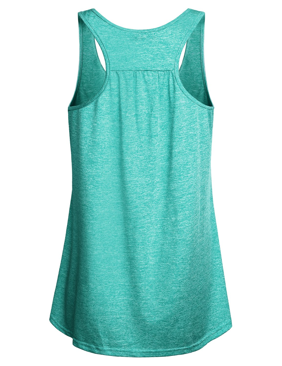 Miusey Gym Tops Racerback Design Round Neck Sleeveless Army Camouflage Yoga Sports Stretchy Lightweight Comfy Breathable Cool Workout Tank Green M by Miusey (Image #2)