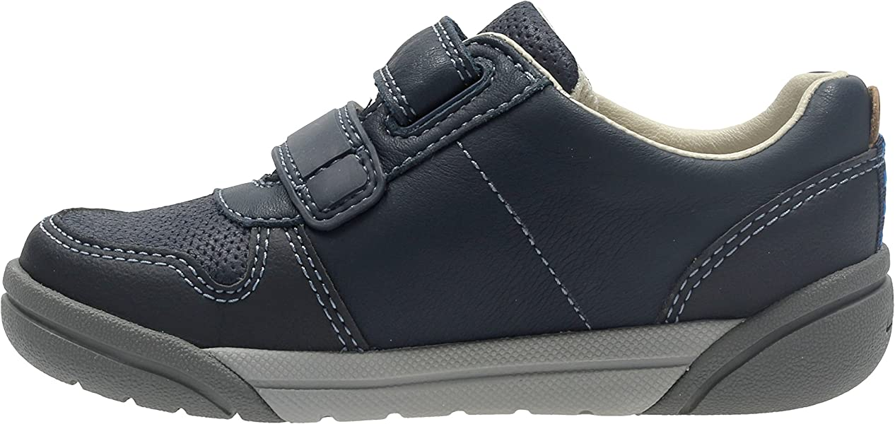 LILFOLKPOP INFANT BOYS CLARKS LEATHER RIPTAPE LIGHTS TRAINERS CASUAL SMART SHOES