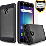 BLU Life One X2 Case, [Not Fit BLU Life One X2 Mini] Circlemalls 2-Piece Style Hybrid Shockproof Hard Cover With [Premium Screen Protector] And Touch Screen Pen (Black)