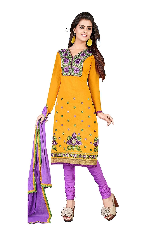Florence Women's Chanderi Cotton Salwar Suit Dupatta