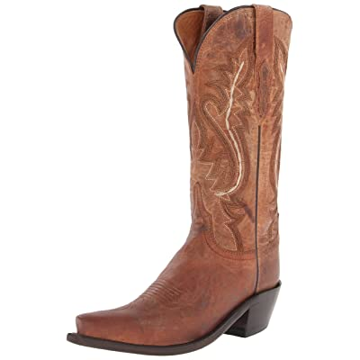 Lucchese Bootmaker Women's Cassidy-tan Mad Dog Goat Riding Boot | Mid-Calf