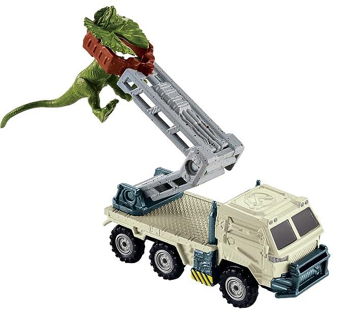 Matchbox Jurassic World Dino Transporters Dilopho-loader Vehicle and Figure