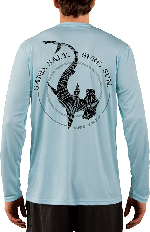 Sailboat Sea Ocean Long Sleeve UPF 30 T-Shirt Fishing Boat Sport UV Protection