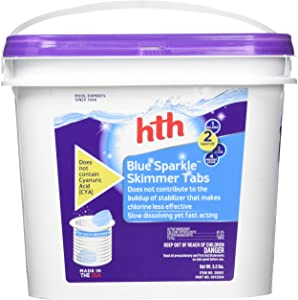 HTH 28001 Blue Sparkle Skimmer Tabs Swimming Pool Sanitizer, 5.5 lbs