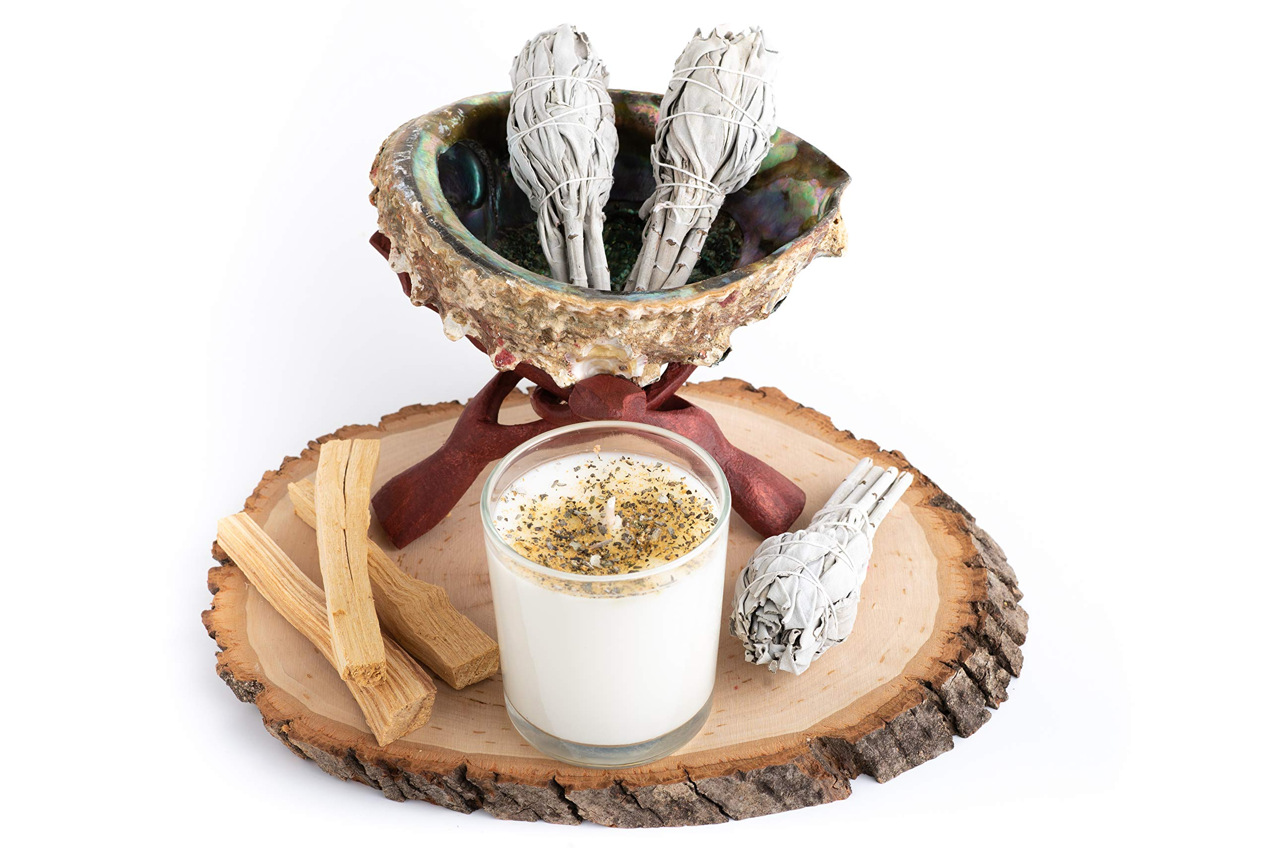 Home Cleansing and Blessing Kit - Smudging Chakra Balancing, White Sage, Palo Santo Sticks, Abalone Shell, Candle, Healing Incense, Good Luck, Purifying, Protection, Spiritual Cleansing, Meditation by My Lumina (Image #5)