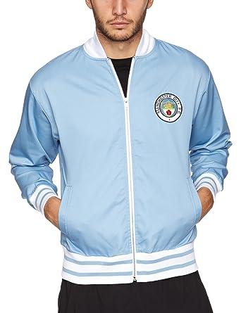 Manchester City 1972 Track Jacket Medium Retro Soccer Jersey at ... 1fa43cdce