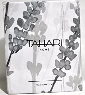Curtains Ideas botanical shower curtain : Amazon.com: Tahari Luxury Cotton Blend Shower Curtain Blooming ...