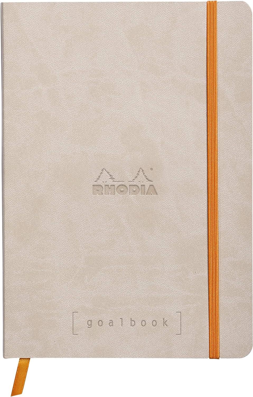 klatschmohn Rhodia 117193C Perpetual Kalender DIN A5, 14,8 x 21 cm, 64 Blatt, 90 g, elegant und praktisch