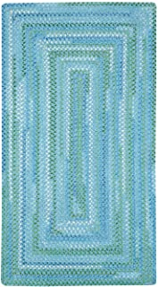 "product image for Capel Waterway Blue 9' 2"" x 13' 2"" Concentric Rectangle Braided Rug"