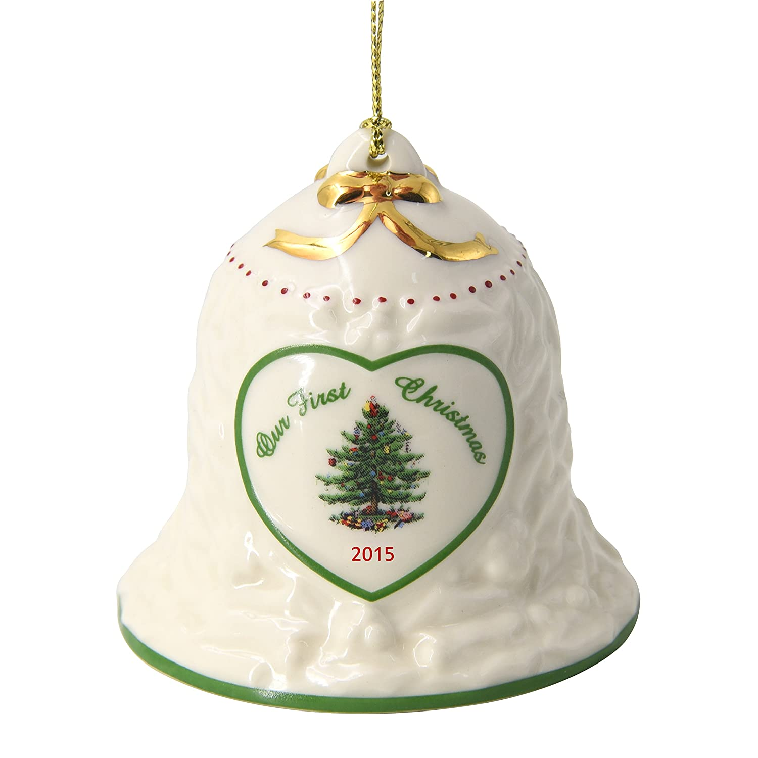 Spode Our First Christmas Bell Annual 2015 Tree Ornament Portmeirion Group 4019756