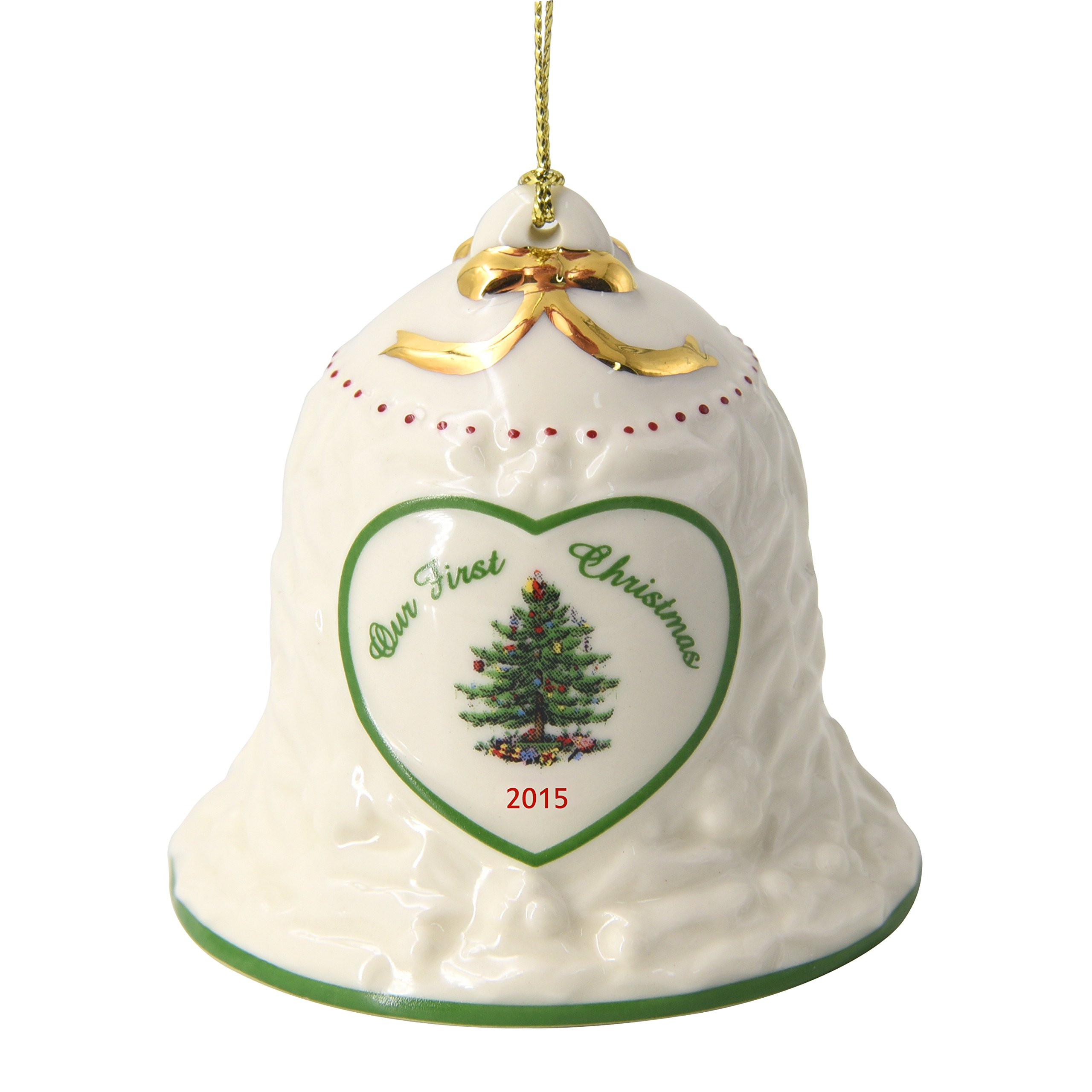 Spode Our First Christmas Bell Annual 2015 Tree Ornament