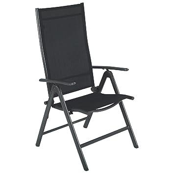 ultranatura fauteuil de jardin pliant en aluminium gamme korfu gris anthracite chaise de - Chaise Exterieur