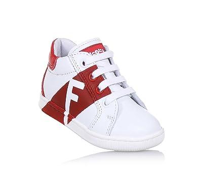 556109edb0f2 Falcotto Weißer und Roter Schuh mit Schnürsenkeln, Ideal Zum Laufen ...