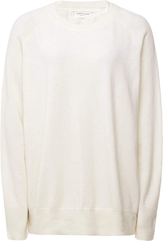 Chinti and Parker Women's Slouchy Cashmere Jumper Cream at