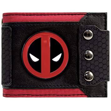 Cartera de Marvel Deadpool Insignia Triple abotonado Negro: Amazon.es: Equipaje