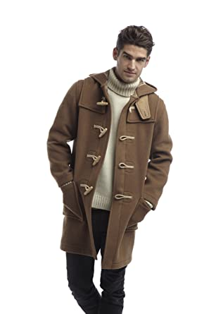 Mens Duffle Coat Wooden Toggles -- Camel: Amazon.co.uk: Clothing