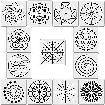 Amazon Com 13 Pack Mandala Dot Painting Templates Stencils For Diy