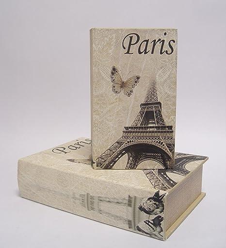 Decoración bookbox caja de libro tamaño caja conjunto de 2 diseño ...