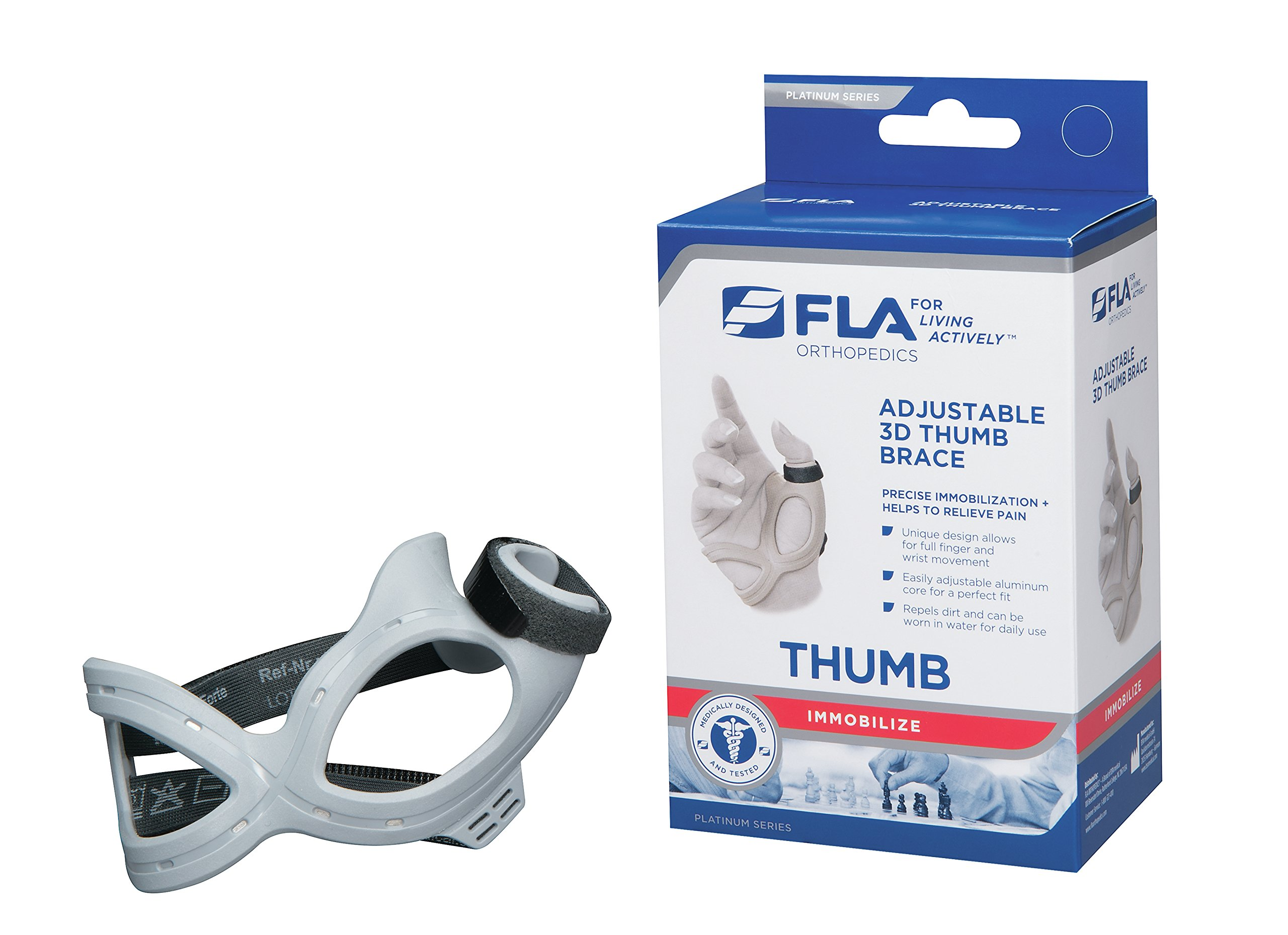 FLA 3D Adjustable Right Thumb Brace, Large