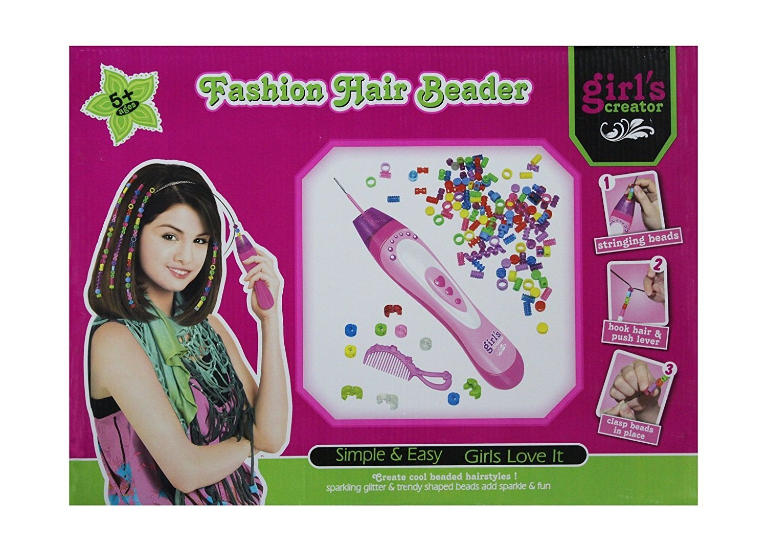 Buy indiplay fashion hair beader for girls creator toy online at low prices in india amazon in