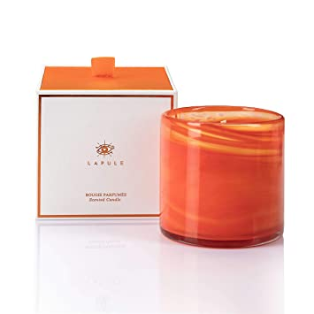 Amazon Com Lapule Luxury Citrus Scented Candle In Handblown Decorative Glass Jar Long Burning Aromatherapy Soy Wax Candles With Natural Fragrance Essential Oils For Women Gifts Home And Bath Decor