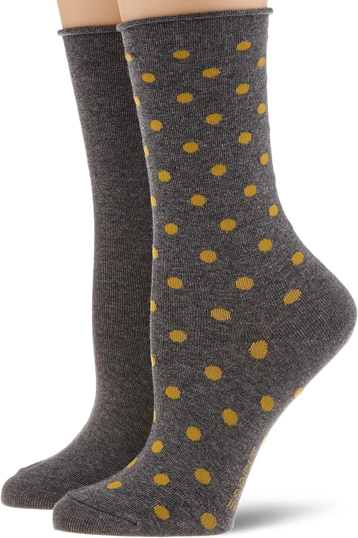 grau ESPRIT Damen Dot 2-Pack Socken 39-42 2er Pack light grey mel. 3390