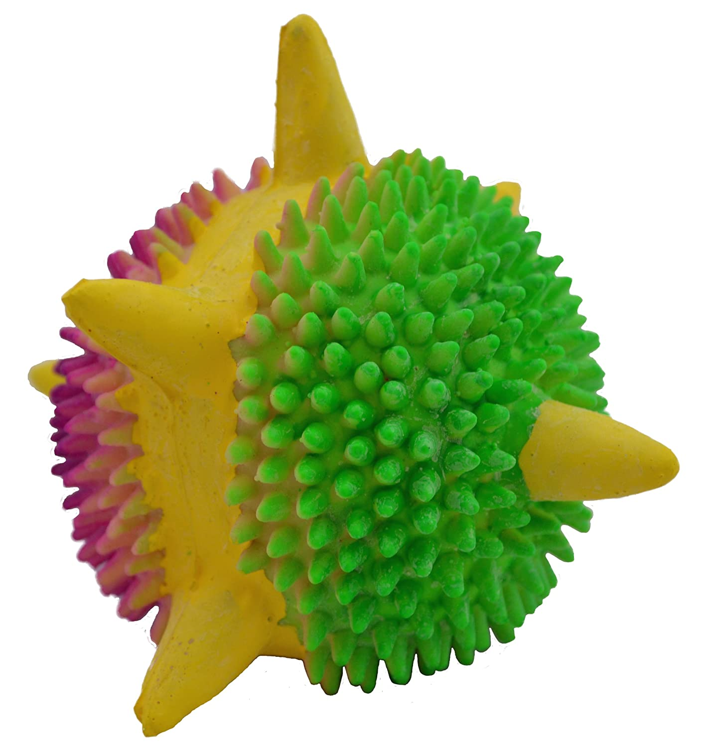 Pet Supplies : Amazing Pet Products Latex Dog Toy, 3.2-Inch, Spiny ...