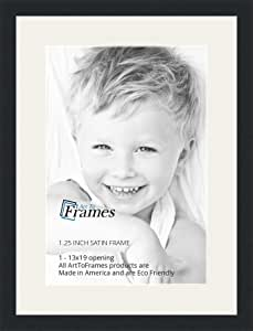 "Craig Frames 18x24/"" Gray Picture Frame White Mat with Opening for 12x18/"" Image"
