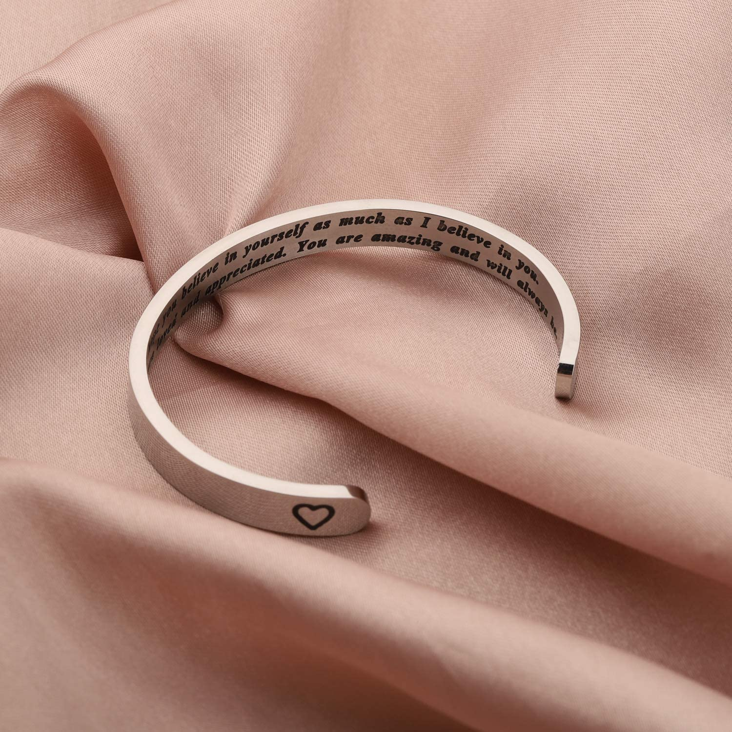 Gzrlyf To My Daughter Cuff Bracelet I Hope You Believe in Yourself as much as I Believe in You
