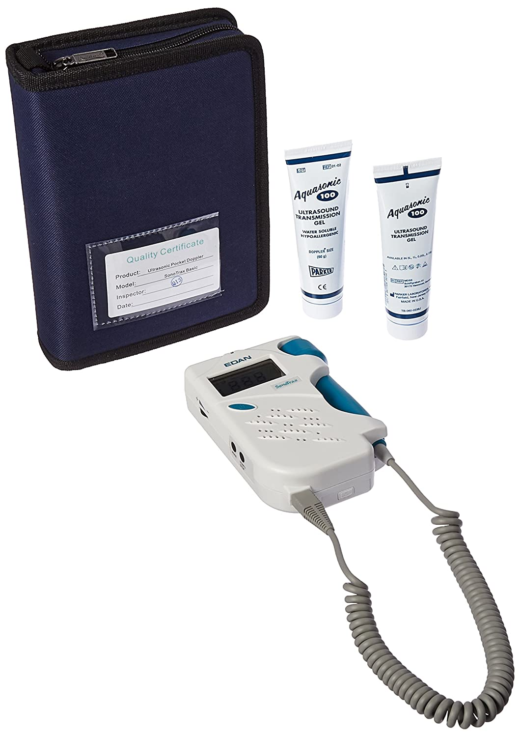 Edan Instruments Sonotrax 3MHZ Basic Fetal Doppler, Prenatal Heartbeat Monitor, LCD Display, 3 MHz