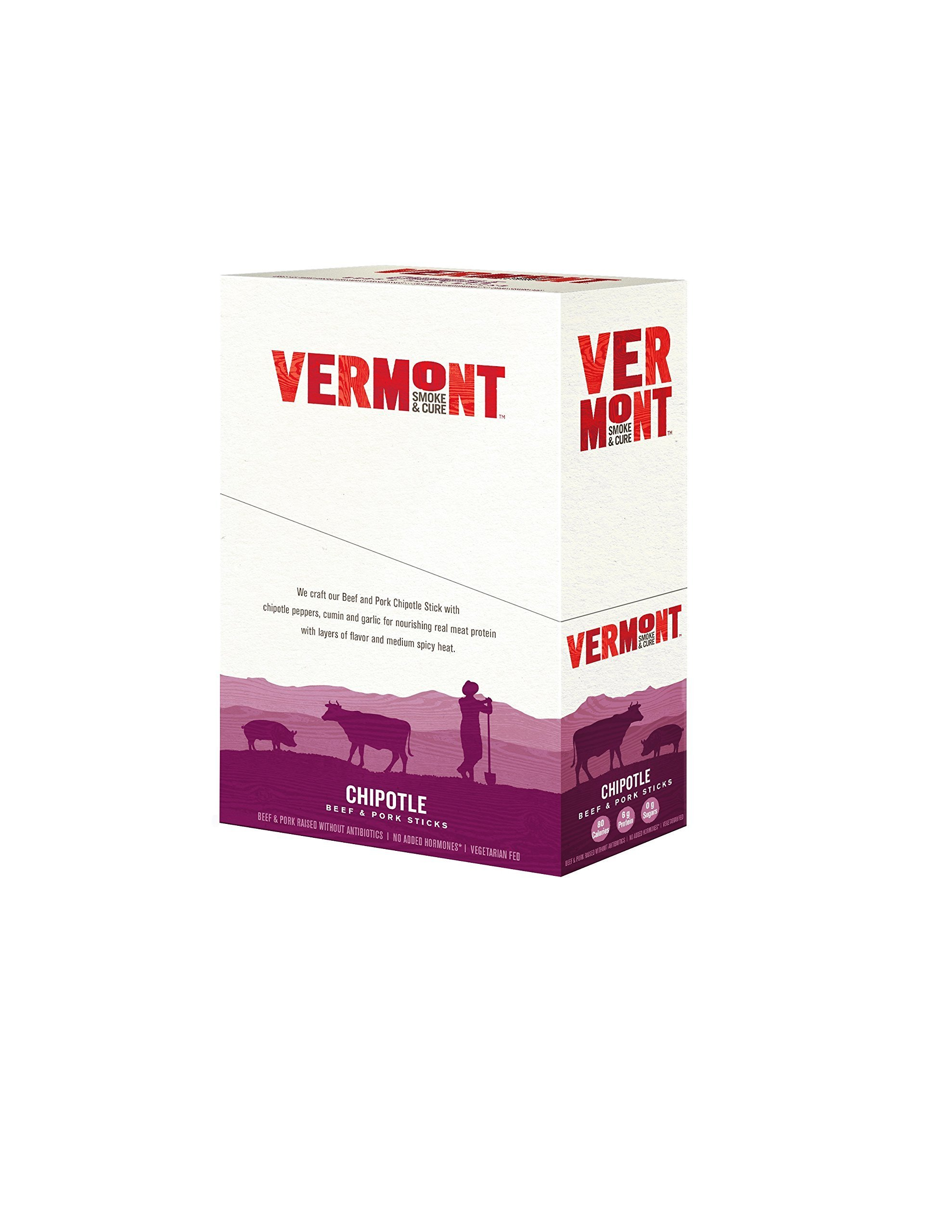 Vermont Smoke & Cure Meat Sticks, Beef & Pork, Antibiotic Free, Gluten Free, Chipotle, 1oz Stick, 24 Count by Vermont Smoke and Cure (Image #7)